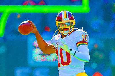 Robert Griffin IIi   Rg 3 Art Print by William Jobes