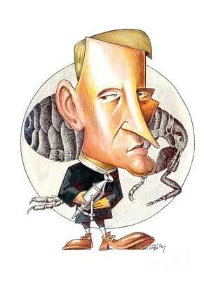 Robert Hooke, English Natural Philosopher Print by Gary Brown