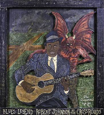 Painting - Robert Johnson At The Crossroads by Eric Cunningham