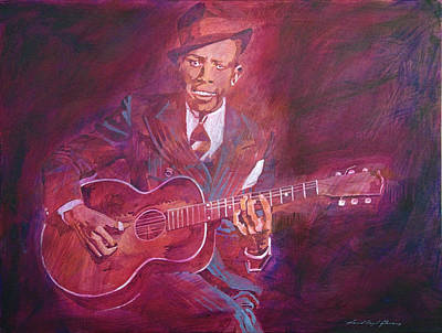 Robert Johnson Art Print by David Lloyd Glover