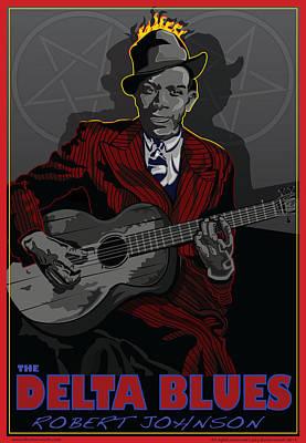 Robert Johnson Delta Blues Art Print by Larry Butterworth