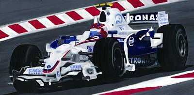 Painting - Robert Kubica Wins F1 Canadian Grand Prix 2008  by Ran Andrews