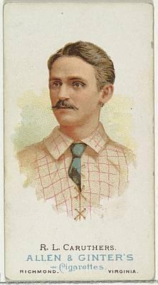 Baseball Cards Drawing - Robert Lee Bob Caruthers, Baseball by Allen & Ginter