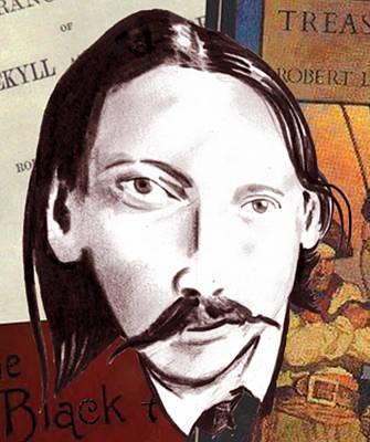 Digital Art - Robert Louis Stevenson Illustration by Diego Abelenda