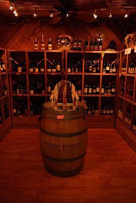 Wine Barrel Photograph - Robert Mondavi by Jeff Swan