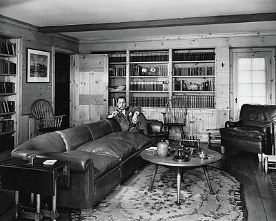 California Photograph - Robert Montgomery In His Living Room by Fred R. Dapprich