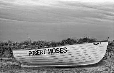 Photograph - Robert Moses Park Bw by JC Findley