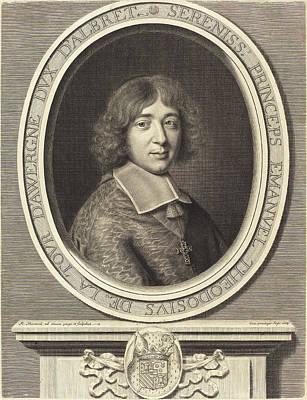 Robert Nanteuil French, 1623 - 1678, Cardinal De Bouillon Art Print