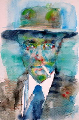 Robert Oppenheimer - Watercolor Portrait.1 Original by Fabrizio Cassetta