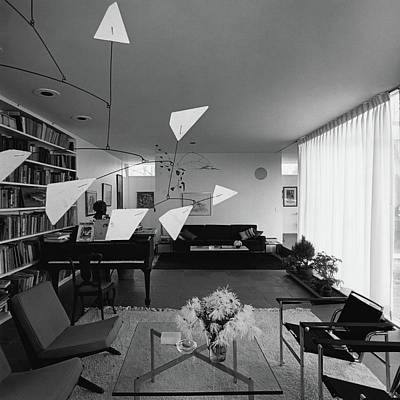 Hanging Mobile Photograph - Robert Osborn's Living Room by Hans Namuth