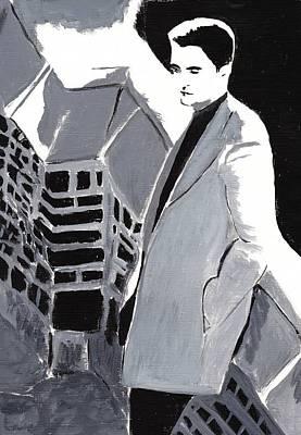 Robert Pattinson 129 Art Print by Audrey Pollitt