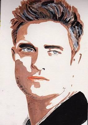 Robert Pattinson 144 Art Print by Audrey Pollitt