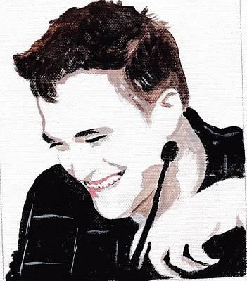 Robert Pattinson 184 Art Print by Audrey Pollitt