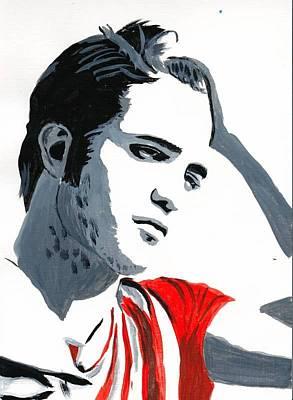 Robert Pattinson 77 Art Print by Audrey Pollitt
