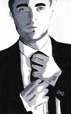 Robert Pattinson 80 Art Print by Audrey Pollitt