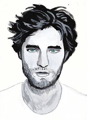 Robert Pattinson 88 Art Print by Audrey Pollitt