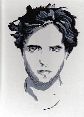 Robert Pattinson 89 Art Print by Audrey Pollitt