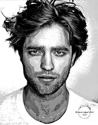 Digital Art - Robert Pattinson by Absinthe Art By Michelle LeAnn Scott