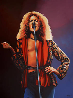 Folk Realism Painting - Robert Plant 2 by Paul Meijering