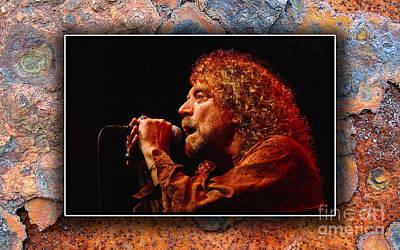 Led Zeppelin Mixed Media - Robert Plant Art by Marvin Blaine