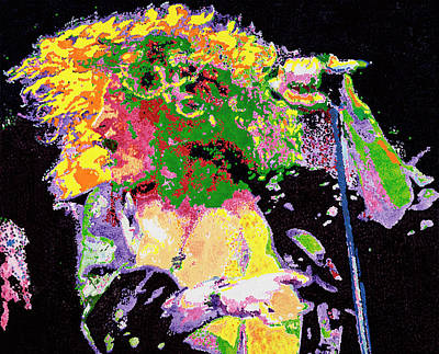 Robert Plant Painting - Robert Plant by Barry Novis