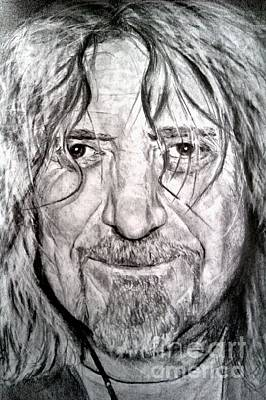 Led Zeppelin Drawing - Robert Plant by Brian Horsley