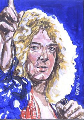 Painting - Robert Plant by Bryan Bustard