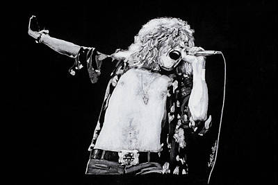 Robert Plant Drawing - Robert Plant by Kenneth  Williams
