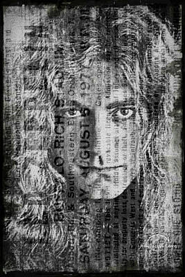 Digital Art - Robert Plant - Led Zeppelin by Absinthe Art By Michelle LeAnn Scott