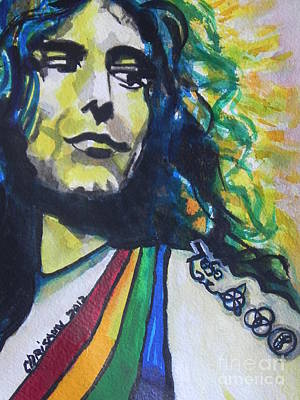Music Paintings - Robert Plant.. Led Zeppelin by Chrisann Ellis