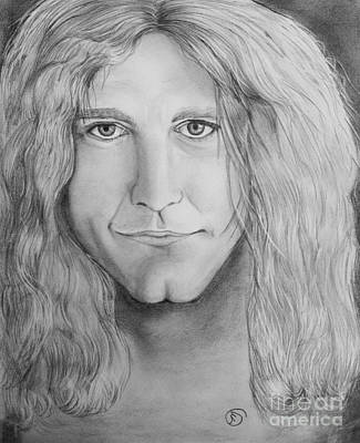 Led Zeppelin Drawing - Robert Plant by Manon Zemanek