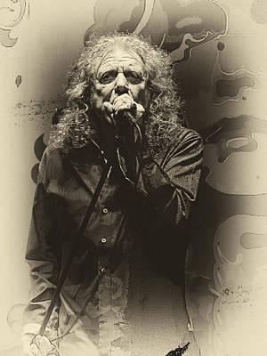 Robert Plant Digital Art - Robert Plant by Michael  Wolf