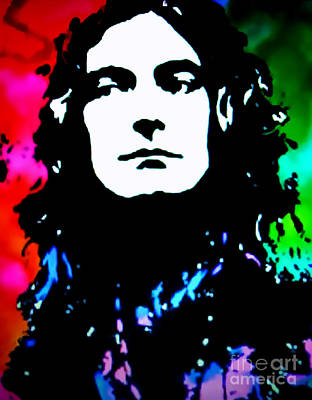 Heavy Metal Painting - Robert Plant Pop Art by Ryszard Sleczka