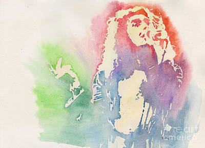 Robert Plant Art Print by Robert Nipper