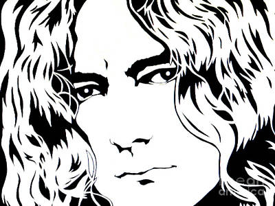 Heavy Metal Painting - Robert Plant by Ryszard Sleczka