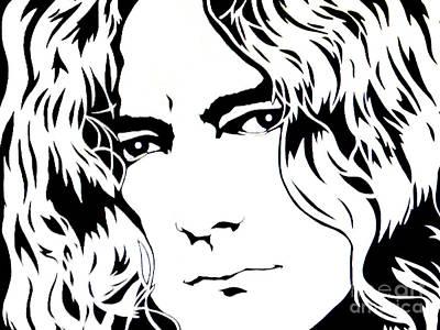 Robert Plant Performance Art Painting - Robert Plant by Ryszard Sleczka