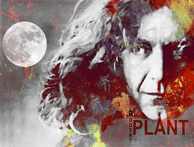 Led Zeppelin Digital Art - Robert Plant by Steve K