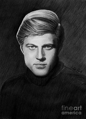Condor Drawing - Robert Redford by Loredana Buford