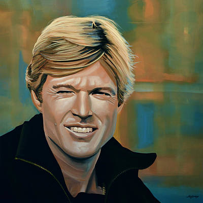 Wood Painting - Robert Redford by Paul Meijering