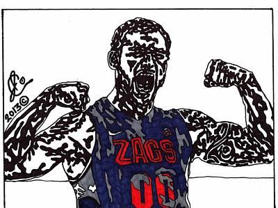 Ncaa Basketball Drawing - Robert Sacre by Jeremiah Colley