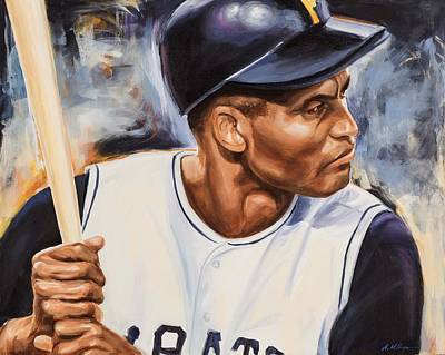 Roberto Clemente Art Print by Angie Villegas