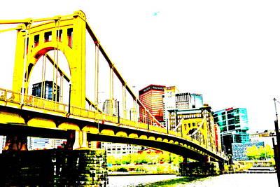 Roberto Clemente Bridge Art Print