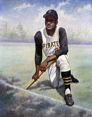 Baseball Cap Painting - Roberto Clemente by Gregory Perillo