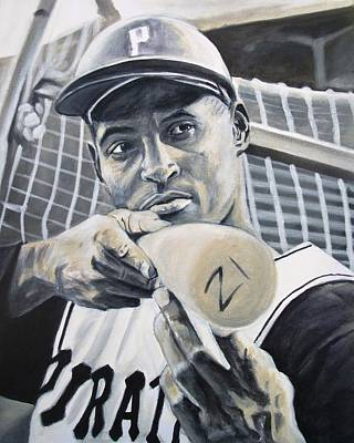 Shoeless Joe Jackson Painting - Roberto Clemente by Paul Smutylo