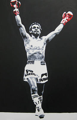 Painting - Roberto Duran 1 by Geo Thomson