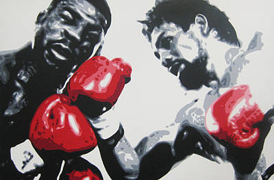 Painting - Roberto Duran 2 by Geo Thomson