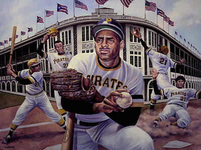 Roberto Clemente. Pittsburgh Pirates Painting - Roberto by Frederick Carrow