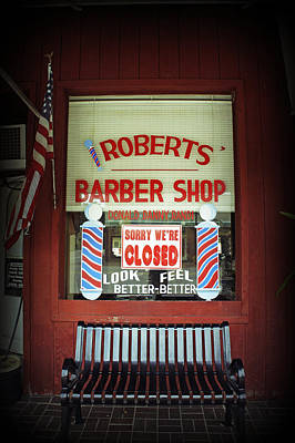 Photograph - Roberts Barber Shop by Laurie Perry