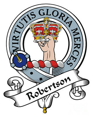 Robertson Clan Badge Art Print by Heraldry