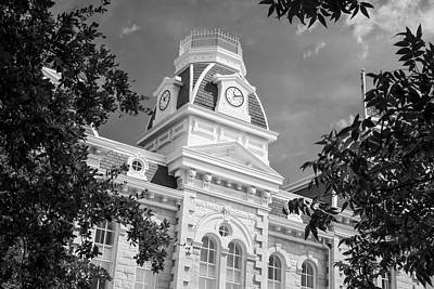 Courthouse Photograph - Robertson County Courthouse Bw by Joan Carroll